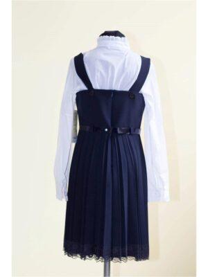Сарафан для девочки школьный темно-синий Diana