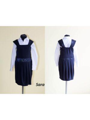 Сарафан для девочки школьный темно-синий Sara