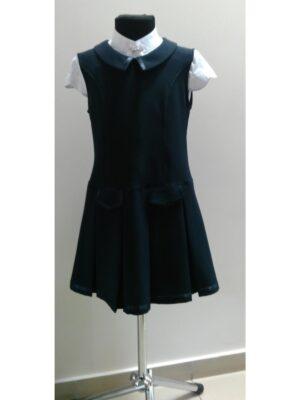 Сарафан для дівчинки шкільний синього кольору Frida