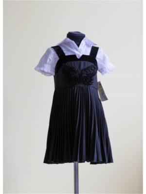 Сарафан для дівчинки шкільний чорного кольору Motyl