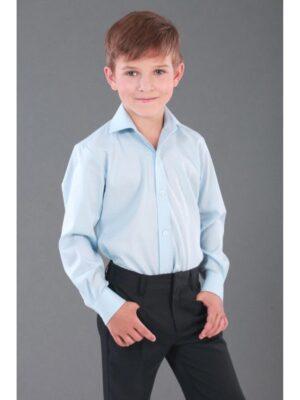 Рубашка однотонная нежно зеленая для мальчика