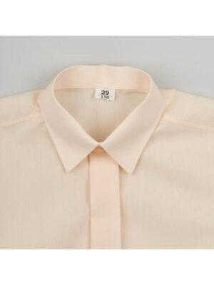 Рубашка для мальчика молочная классическая ML-3 Jankes