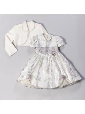 Платье для девочки нарядное с серебристым узором Roza