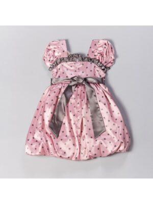 Платье нарядное розовое в горох Aga