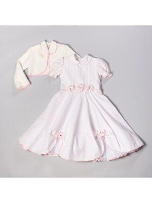 Сукня для дівчинки світло-рожеве в смужку Oksana