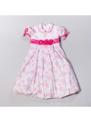 Сукня для дівчинки ошатне біло рожеве в квіти Marta