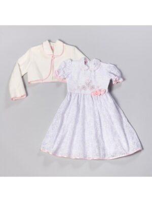 Сукня ошатна біла в паєтках для дівчинки Jadzia