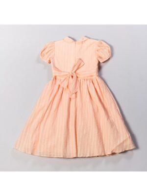Платье для девочки нарядное персикового цвета Pola
