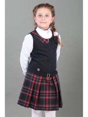 Сарафан шкільний синього кольору для дівчинки