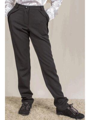 Штани для дівчинки з бантиками-кишенями чорного кольору