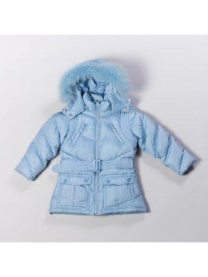 Куртка пуховая для девочки голубая 911515 O'HARA