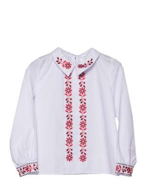 Вишита блуза для дівчинки з довгим рукавом Школярочка