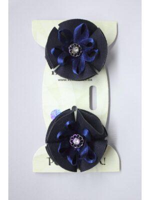 Резинка для волосся ручної роботи синя для школярки