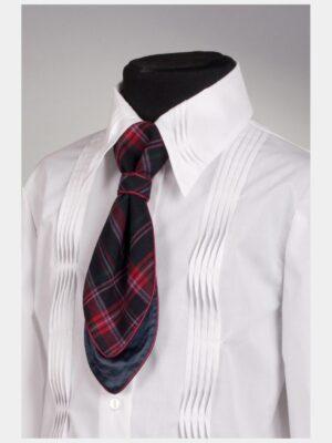 Шкільна краватка синього кольору в клітку для дівчинки