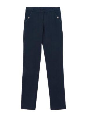 Штани для дівчинки шкільні темно-сині