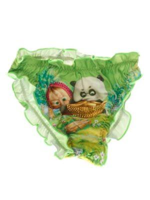 Плавки для девочки зеленые МАША и ПАНДА