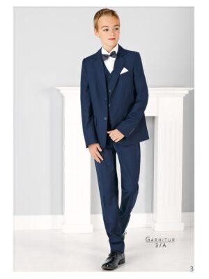Костюм школьный для мальчика темно-синий рельефная ткань Арт.Levante Jankes