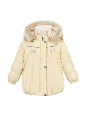 Термо куртка зимова для дівчинці Бежева Jade