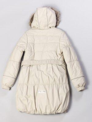 Пальто для девочек бежевое зимнее Sherry