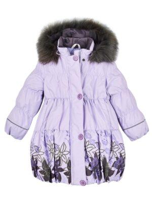 Пальто для дівчинки бузок Lise