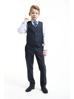Штани для хлопчика школяра темно-сині Ervin