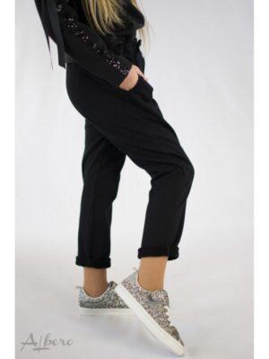 Штани для дівчинки з щільного трикотажу з начосом