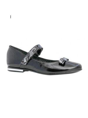 Туфли с натуральной кожи черный цвет для девочки