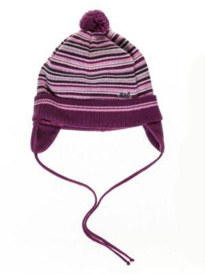 Полосатая шапка для малышей хлопковая весенне-осенняя
