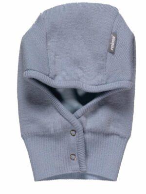Шапка-шолом для дівчинки блакитна на кнопочках