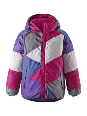 Куртка-пуховик для дівчинки двостороння Вишнева