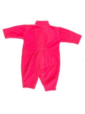 Комбинезон сдельный флисовый для девочки розовый