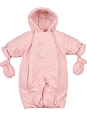 Комбінезон демісезон для дівчинки брудно рожевий Mix