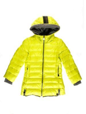 Куртка пуховая на девочку салатового цвета