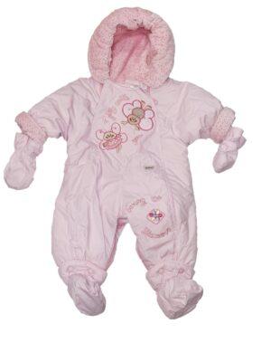 Комбинезон для новорожденных светло розовый зимний 2 в 1 Maja