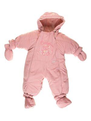 Комбінезон для новонародженого брудно рожевий з овчиною Bears