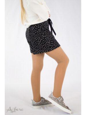 Шорти для дівчинки теплі чорні в крапочки із заниженою талією 4054 Albero