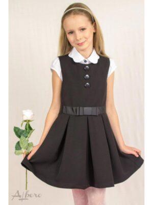 Сарафан для дівчинки класичний чорного кольору