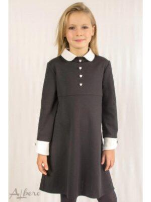 Сукня для дівчинки французький трикотаж джерсі з комірцем і манжетами