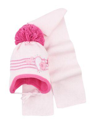Комплект Зимовий для дівчинки з сердечком