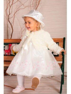 Сукня Біла для хрещення з болеро