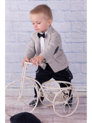 Костюм для хлопчика Святковий з 5 предметів з шкіряними латками на ліктях
