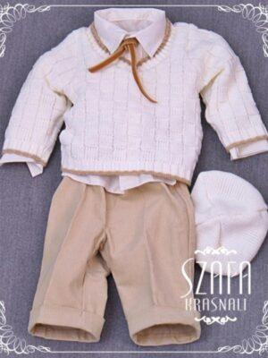 Ошатний костюм для хлопчика з в'язаним регланом