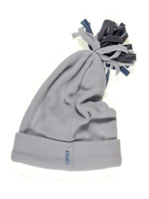 Зимняя шапка для девочки флисовая колпак серого цвета Rufi-2 Pupill
