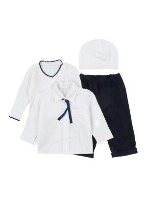 Ошатний костюм з в'язаним регланом брюками і шапочкою з 5 предметів