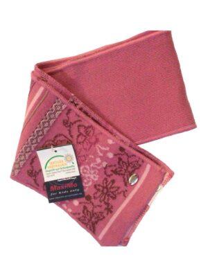 Шарфик для дівчинки попелясто-рожевого кольору з орнаментом квіточки кольору Sharf