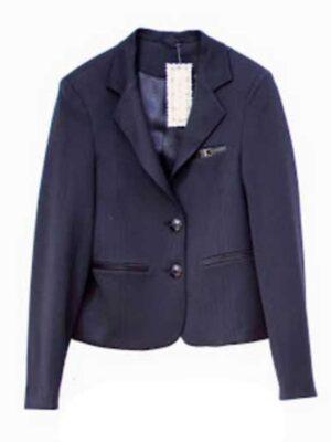 Піджак для дівчинки шкільний синього кольору