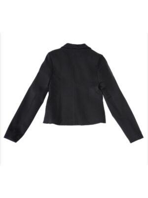 Пиджак для девочки школьный черного цвета