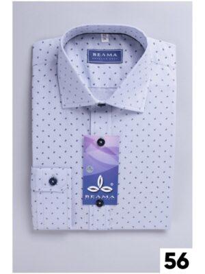 Рубашка для мальчика белая в мелкий принт