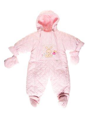 Комбінезон для новонародженого демісезон світло рожевий Lazer Pikowany