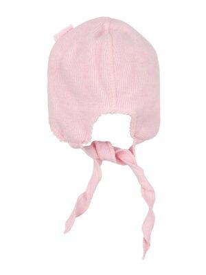 Шапка для новорожденной девочки розовая теплая